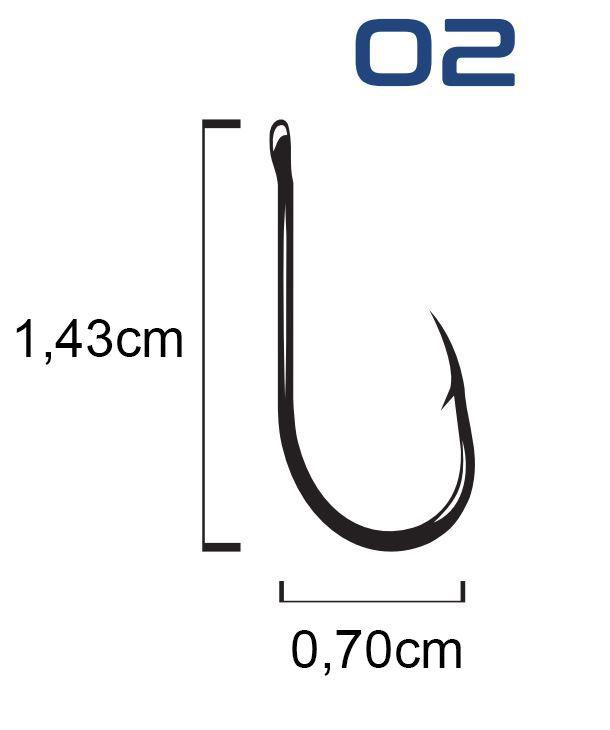Anzol Venza Chinu Black Nickel N° 2 - Marine Sports - 30 Peças  - Life Pesca - Sua loja de Pesca, Camping e Lazer