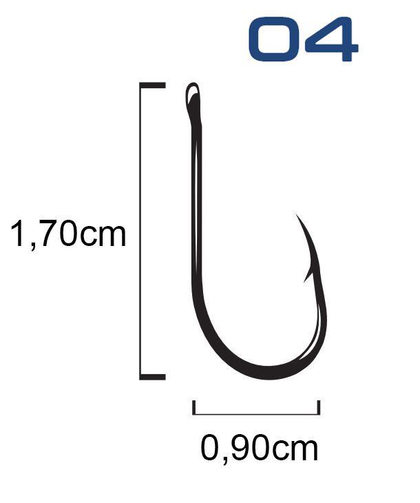 Anzol Venza Chinu Black Nickel N° 4 - Marine Sports - 30 Peças  - Life Pesca - Sua loja de Pesca, Camping e Lazer
