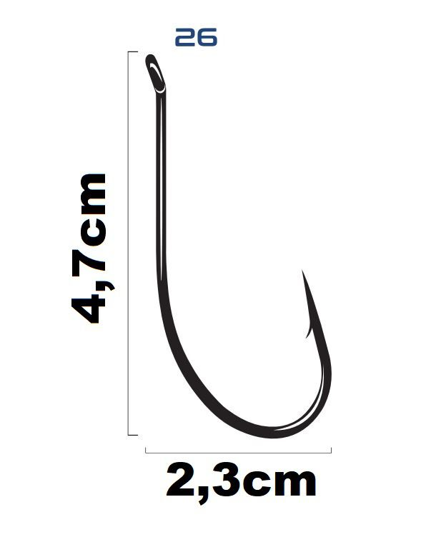 Anzol Saga Maruseigo Super Black Nickel N°26  - Marine Sports - 12 Peças  - Life Pesca - Sua loja de Pesca, Camping e Lazer