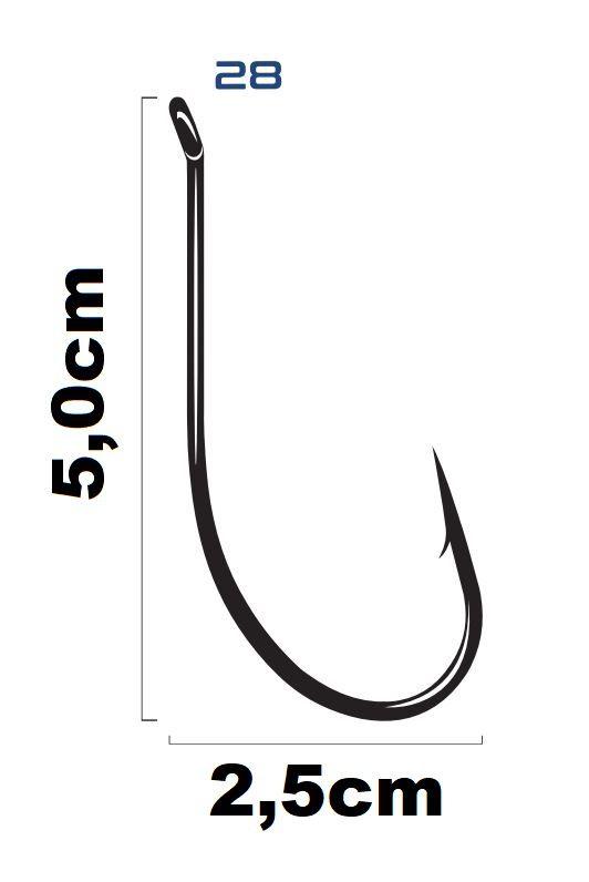 Anzol Saga Maruseigo Super Black Nickel N°28  - Marine Sports - 10 Peças  - Life Pesca - Sua loja de Pesca, Camping e Lazer