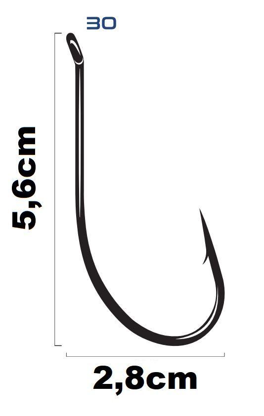 Anzol Saga Maruseigo Super Black Nickel N°30  - Marine Sports - 10 Peças  - Life Pesca - Sua loja de Pesca, Camping e Lazer