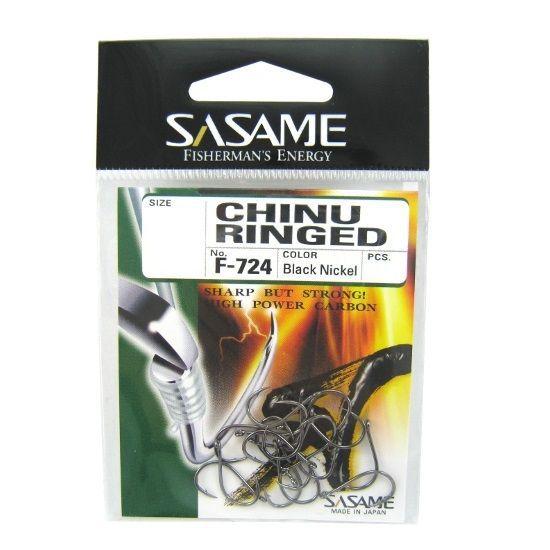 Anzol Sasame Chinu Ringed Black F-724 N° 7 - 17 Peças  - Life Pesca - Sua loja de Pesca, Camping e Lazer