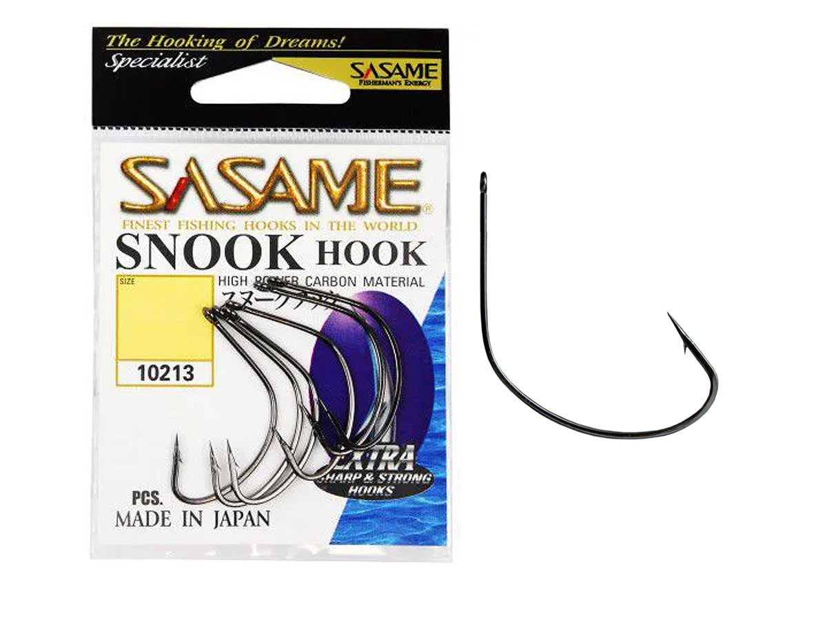 Anzol Sasame Snook Hook Nº 01 Black - 6 Unidades