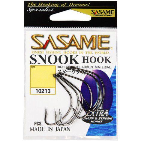 Anzol Sasame Snook Hook Nº 2/0 Black - 6 Unidades  - Life Pesca - Sua loja de Pesca, Camping e Lazer