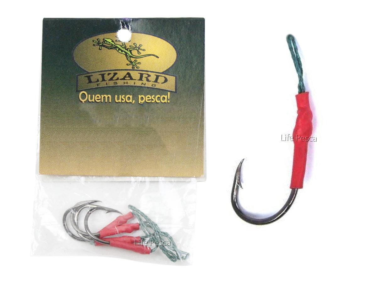 Anzol Suporte Hook Lizard Fishing C/ Anzol Chinu N° 9 - 4 Peças