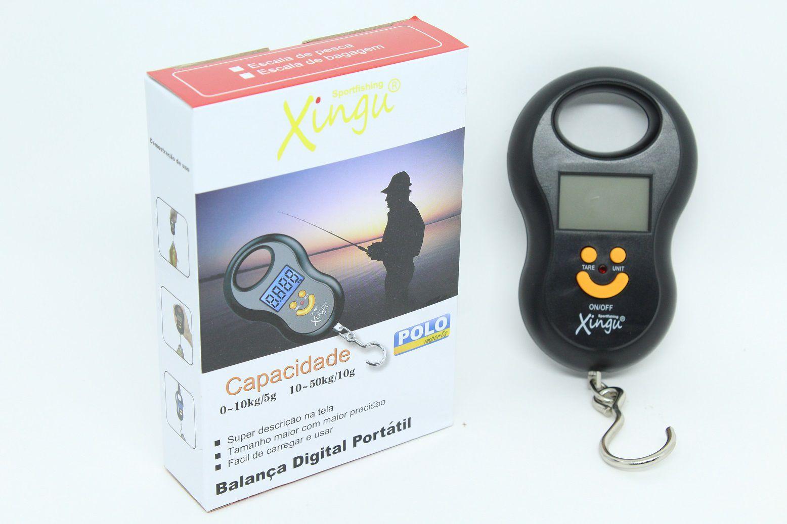 Balança Digital de Precisão Xingu 50Kg Digital Portátil  - Life Pesca - Sua loja de Pesca, Camping e Lazer