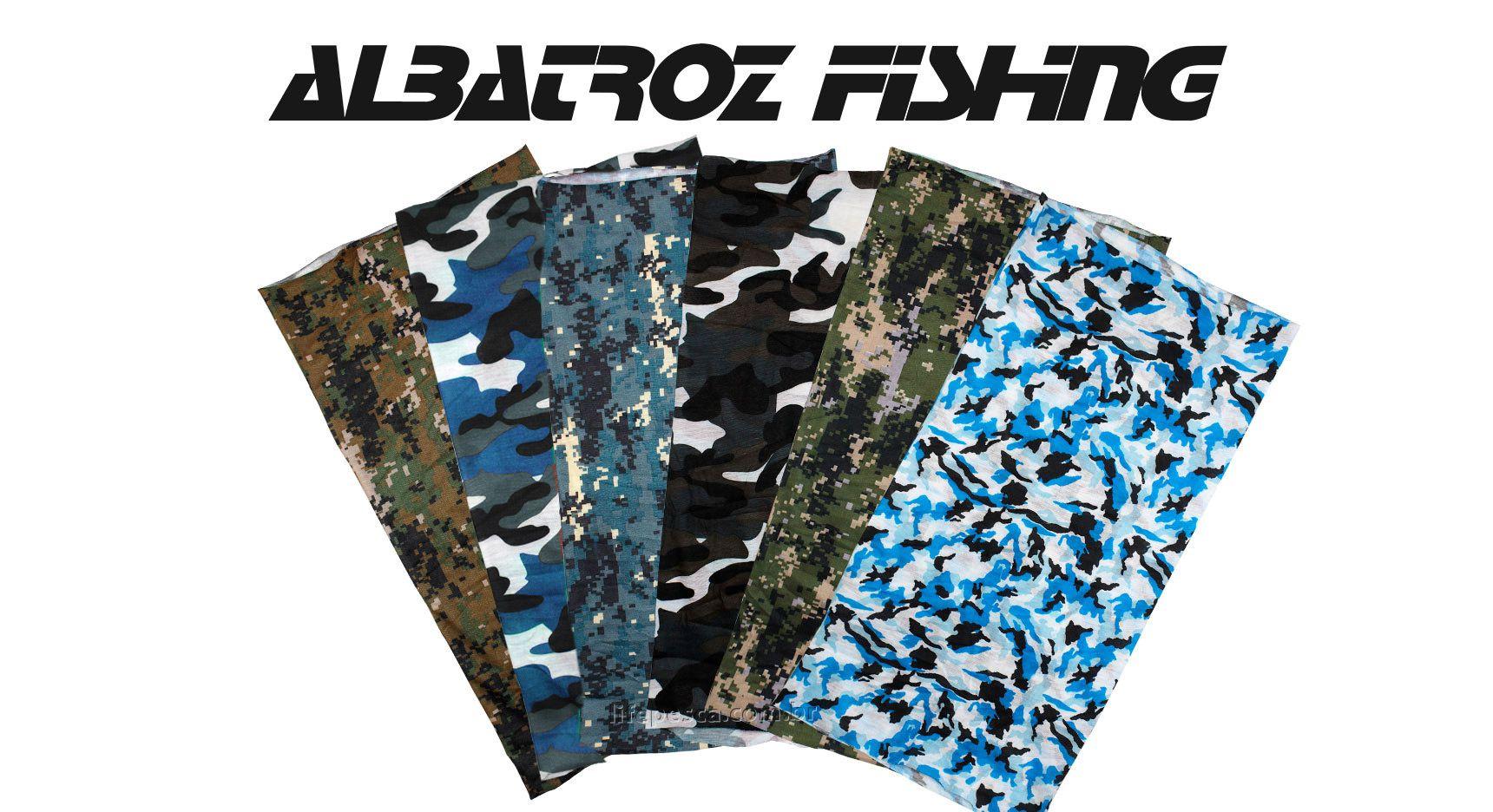 Bandana Top Skin Camuflado - Albatroz Fishing - Várias Cores