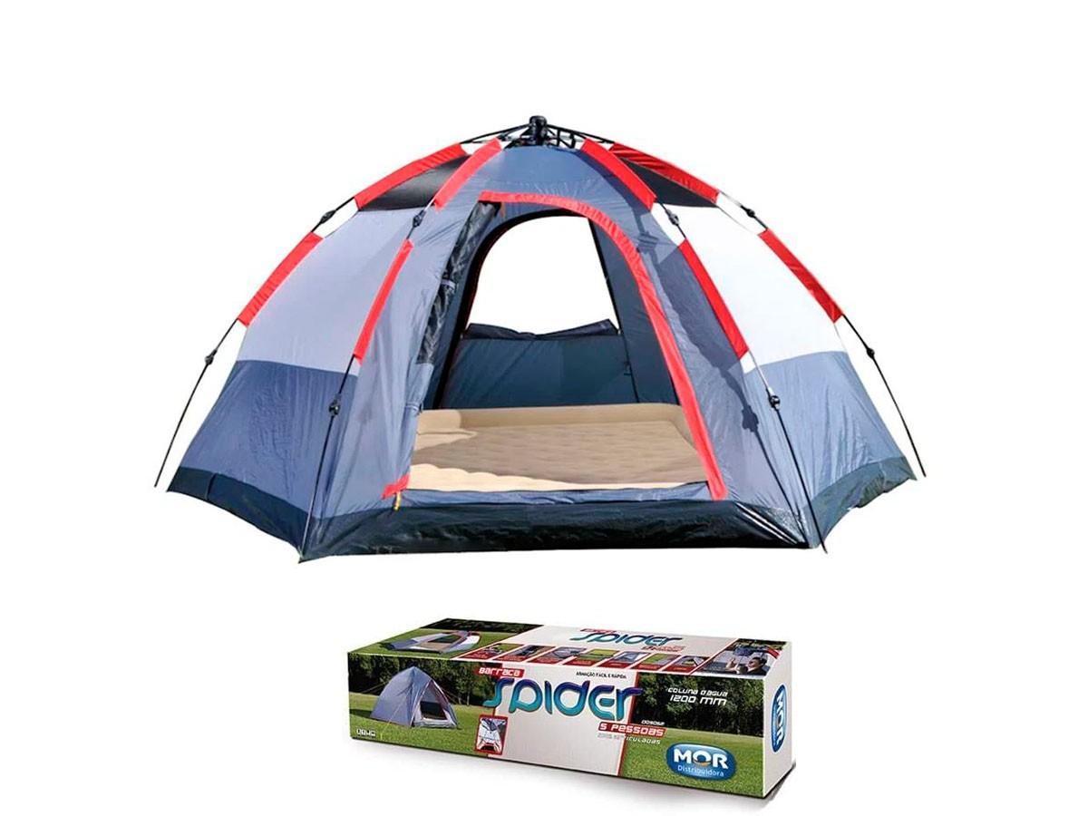Barraca Spider Camping Para Até 5 Pessoas - MOR