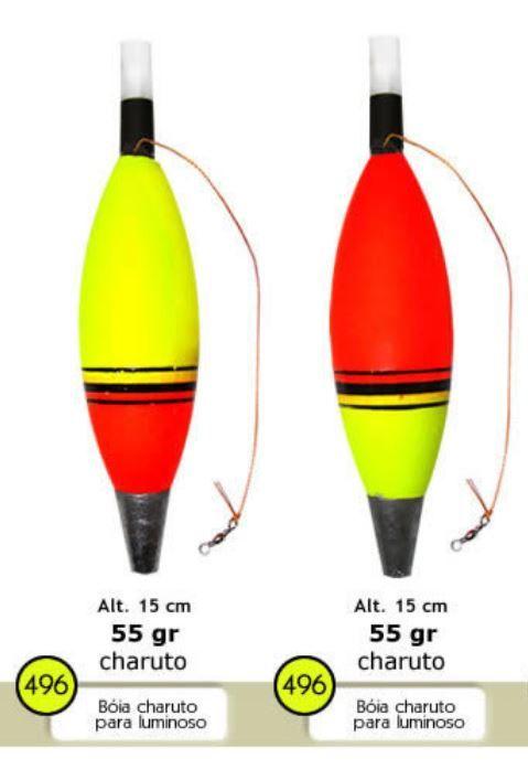 Boia de Arremesso Charuto Para Luminoso 7,5mm Barão Nº 496 55gr - Várias Cores  - Life Pesca - Sua loja de Pesca, Camping e Lazer