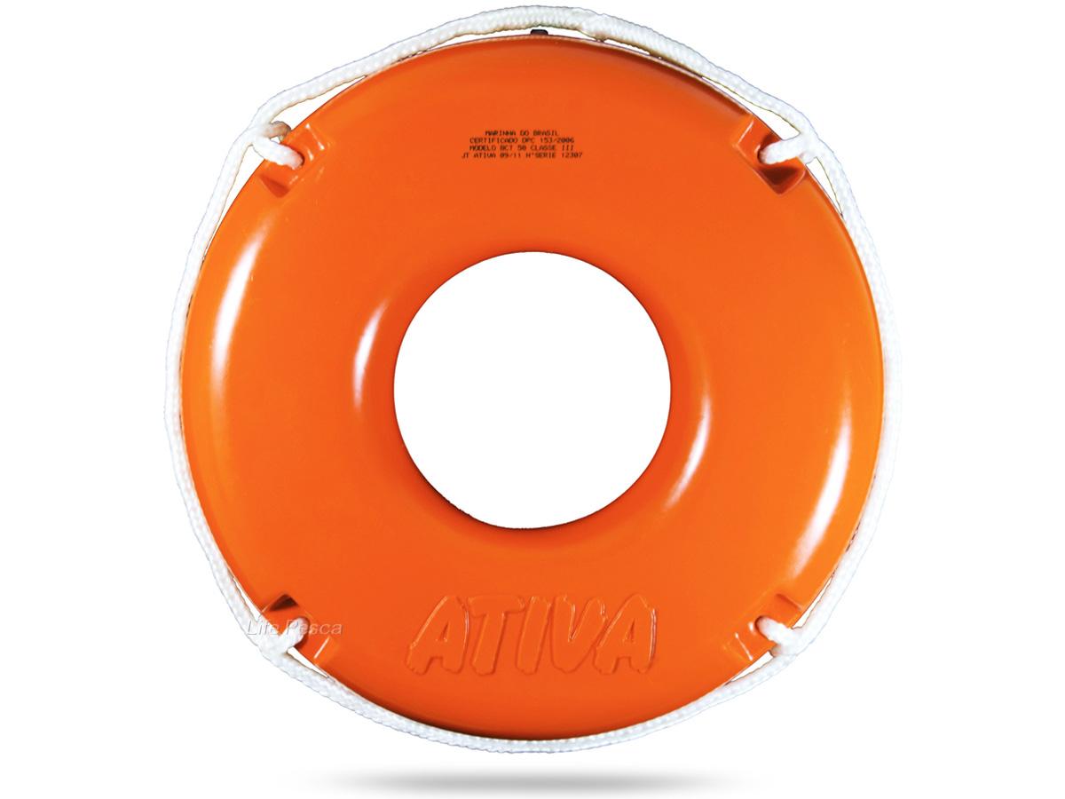 Boia Circular Salva Vidas 50cm Classe III (1,7kg) - Ativa Náutica