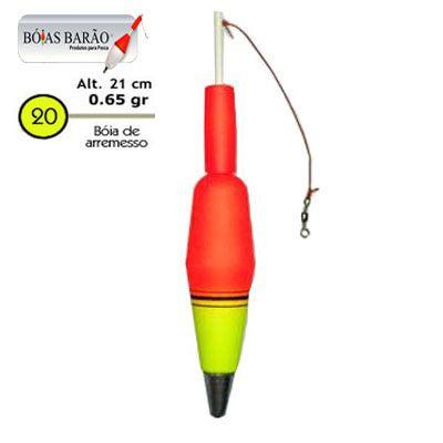 Bóia de Arremesso Barão Nº 20 65gr - Várias Cores  - Life Pesca - Sua loja de Pesca, Camping e Lazer