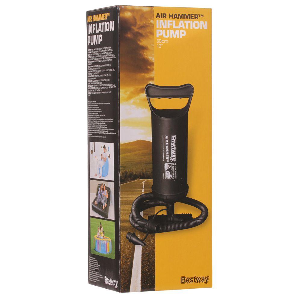 Bomba Manual De Ar Bestway 30cm 3 Bicos para Infláveis  - Life Pesca - Sua loja de Pesca, Camping e Lazer
