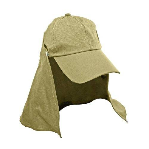 Boné Jogá C/ Protetor De Nuca Destacável Verde, Beje e Camuflado