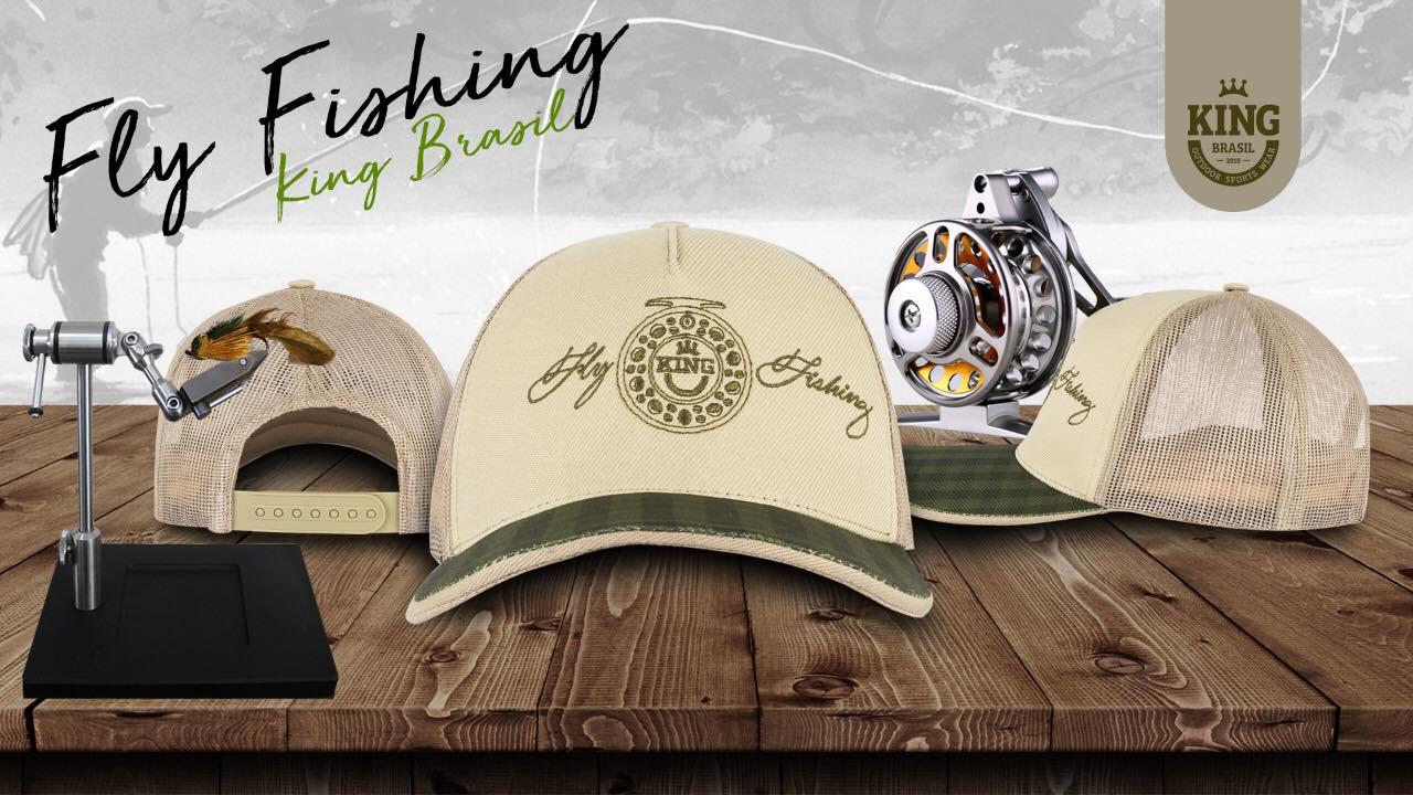 Boné King Brasil - Telado [Vários Modelos]  - Life Pesca - Sua loja de Pesca, Camping e Lazer