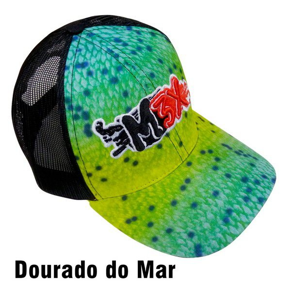 Boné Monster 3X Fit Regulável - Dourado do Mar