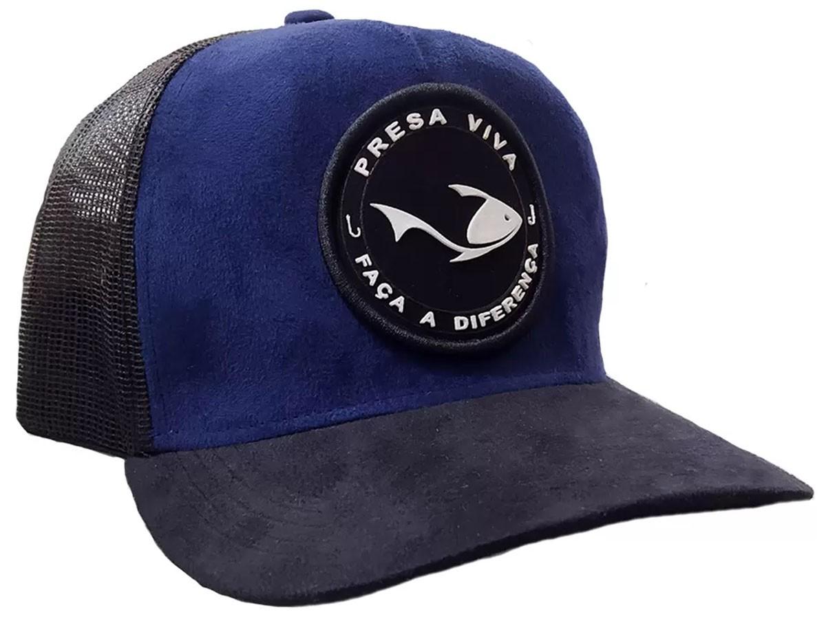 Boné Telado Presa Viva Premium 08 Azul Marinho