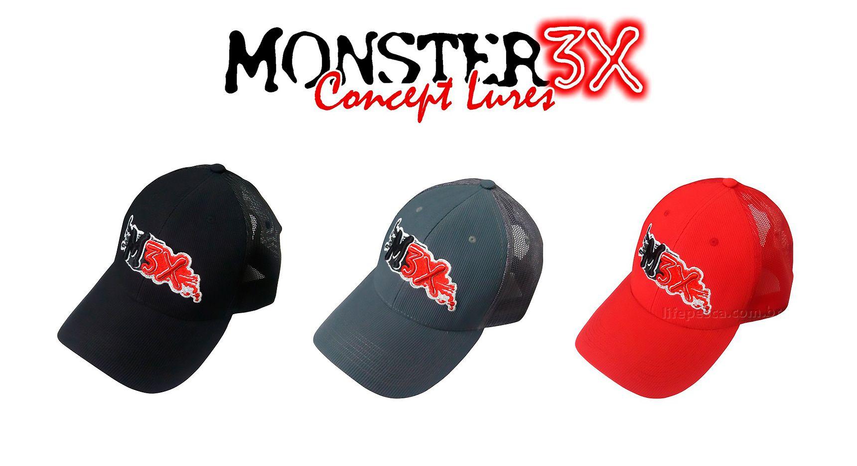 Boné Monster 3X Fit Regulável - Várias Cores  - Life Pesca - Sua loja de Pesca, Camping e Lazer