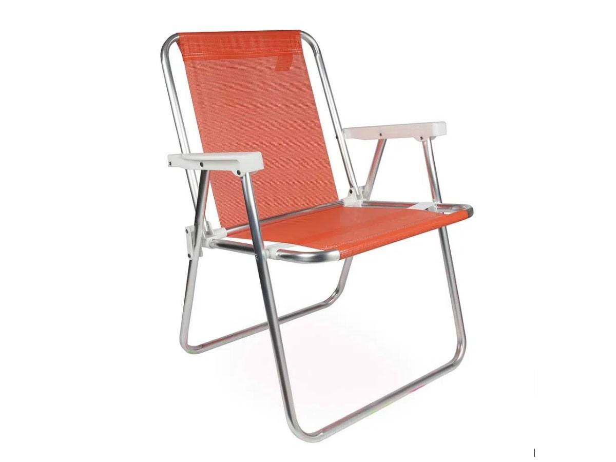 Cadeira Alta Alumínio Sannet 110kg - Mor