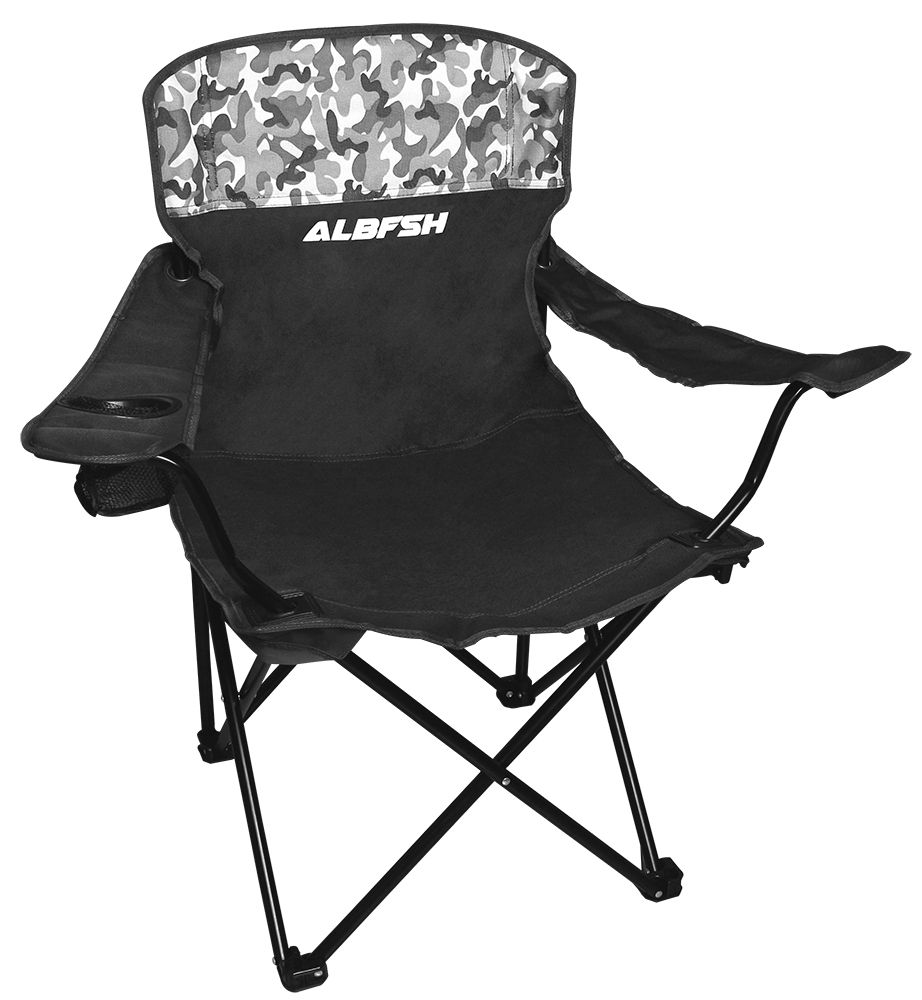 Cadeira Para Pescador Grande Dobrável Com Braço HBA-23MH - Albatroz Fishing