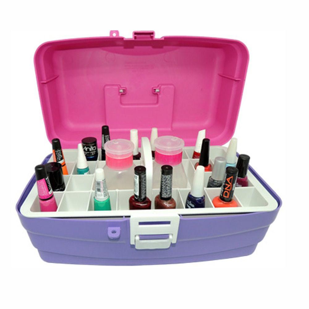 Caixa Rosa CX-Manicure 24 Esmaltes