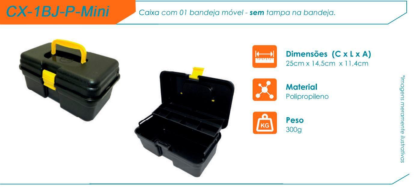 Caixa De Pesca Hi CX-1BJ-P-Mini - 1 Bandejas   - Life Pesca - Sua loja de Pesca, Camping e Lazer