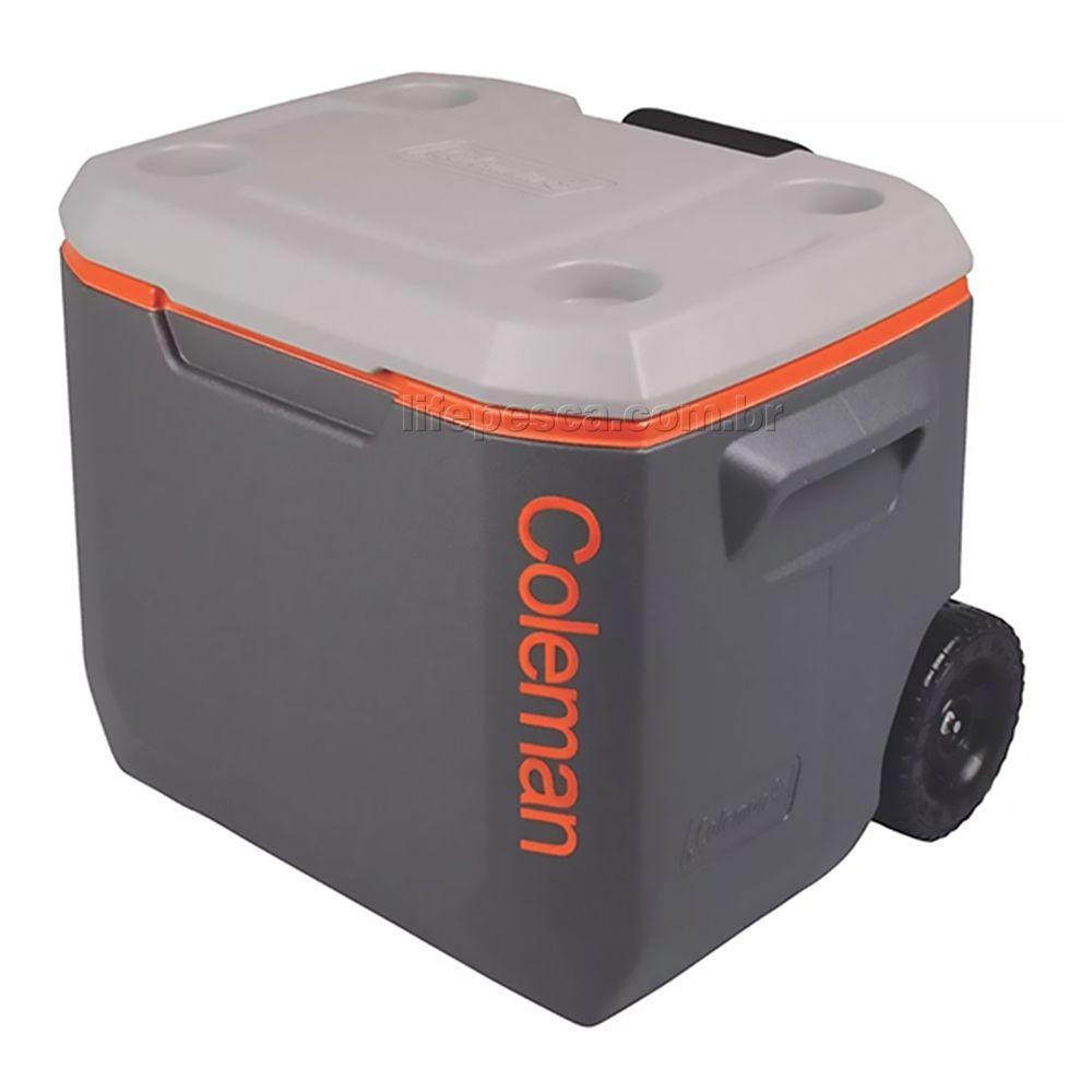 Caixa Térmica Coleman Xtreme 50Qt 47,3 Litros com Rodas - Cinza