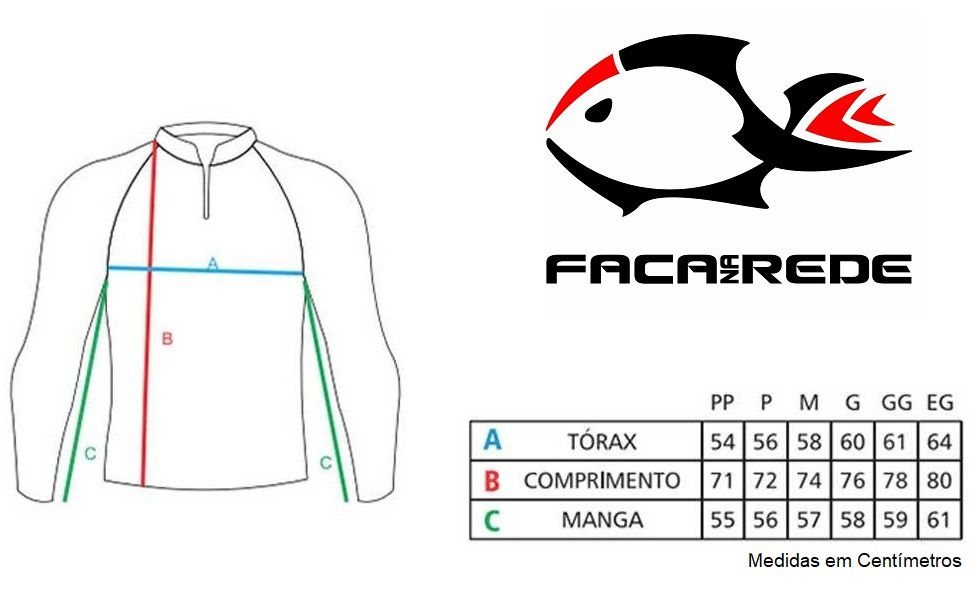 Camiseta de Pesca Proteção Solar Faca na Rede Combat S - Blue  - Life Pesca - Sua loja de Pesca, Camping e Lazer
