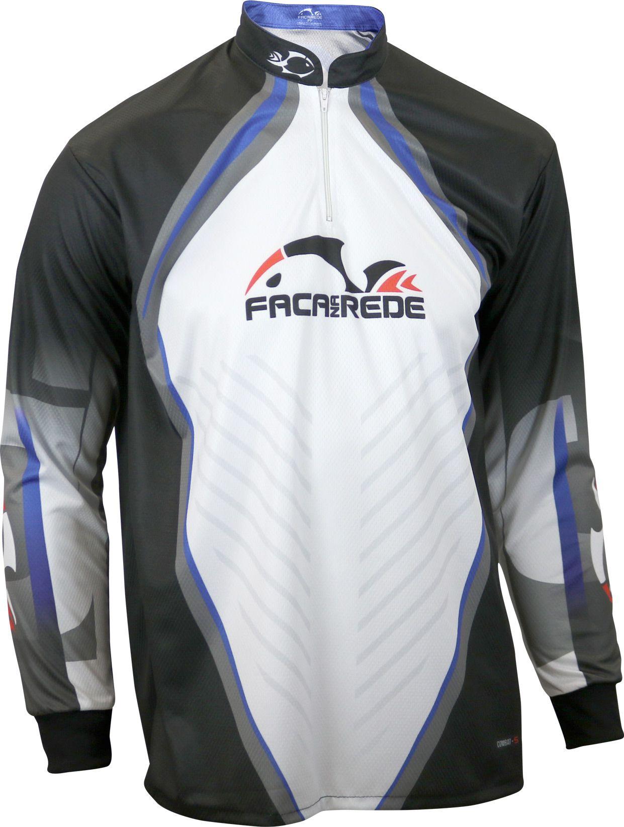 Camiseta de Pesca Faca na Rede Combat S Logo