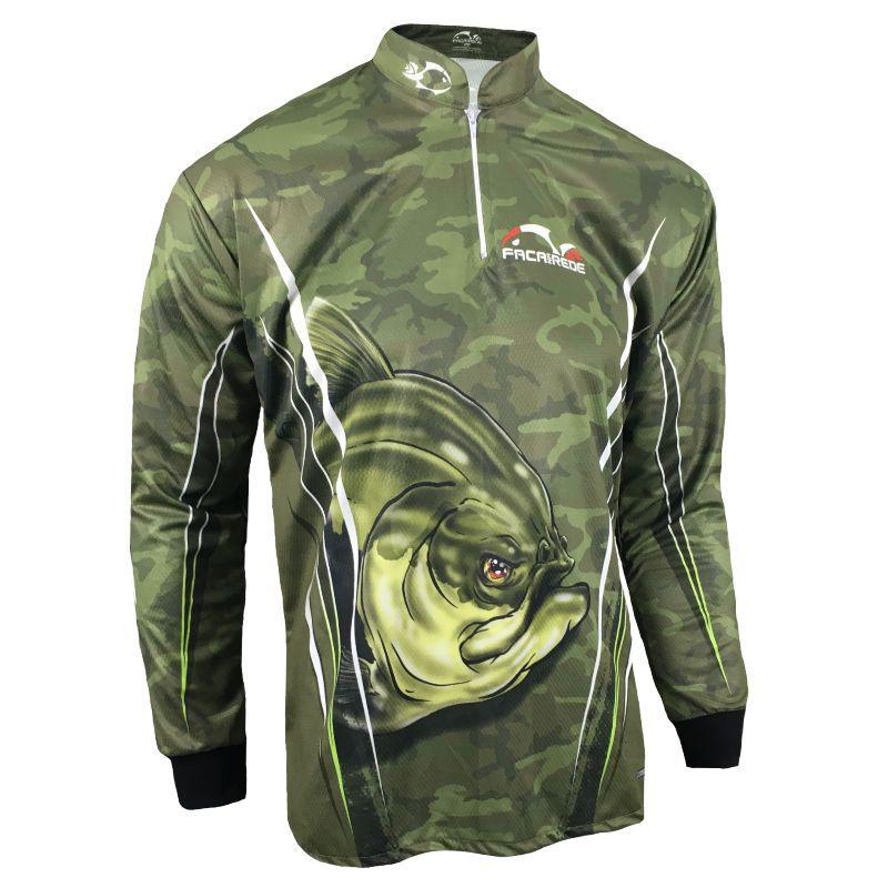 Camiseta de Pesca Proteção Solar Faca na Rede Combat S - Tambaqui 2020
