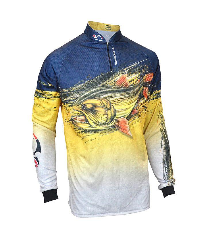 Camiseta de Pesca Faca na Rede EVO Dourado - Lançamento