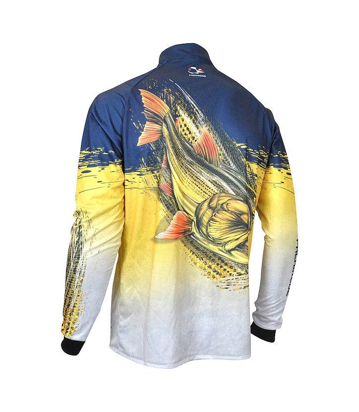 Camiseta de Pesca Proteção Solar Faca na Rede EVO Dourado  - Life Pesca - Sua loja de Pesca, Camping e Lazer