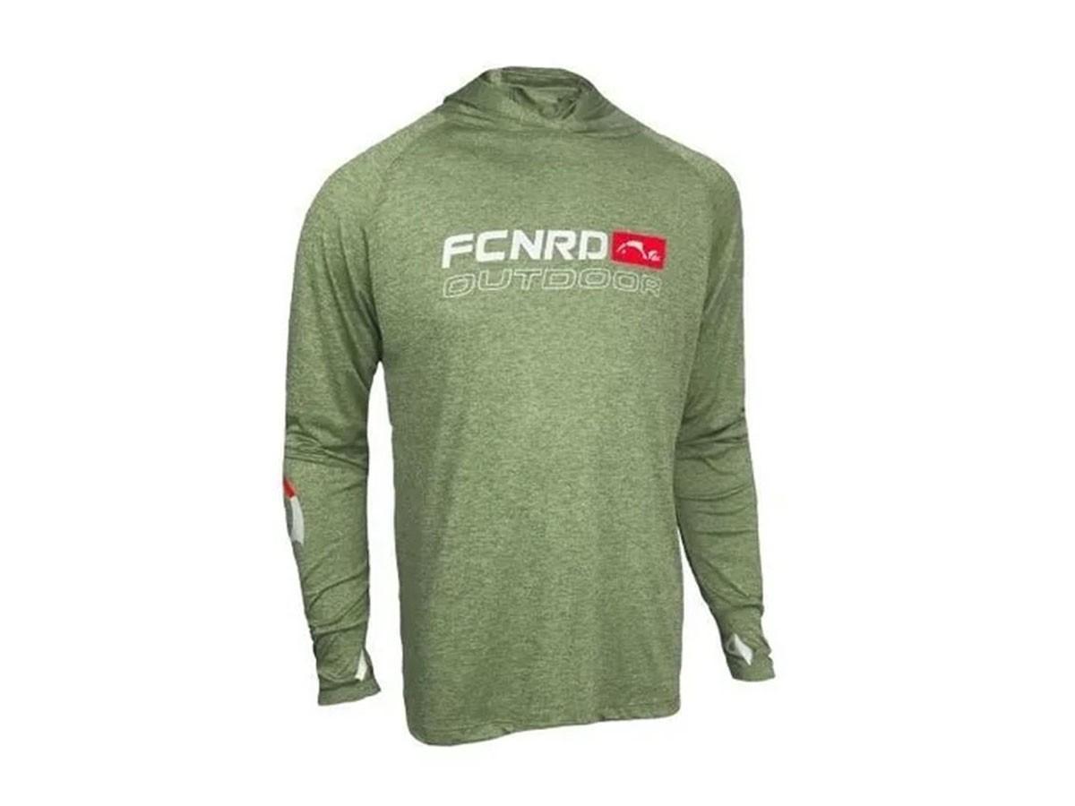 Camiseta de Pesca Proteção Solar Faca na Rede - Ride One Verde Militar