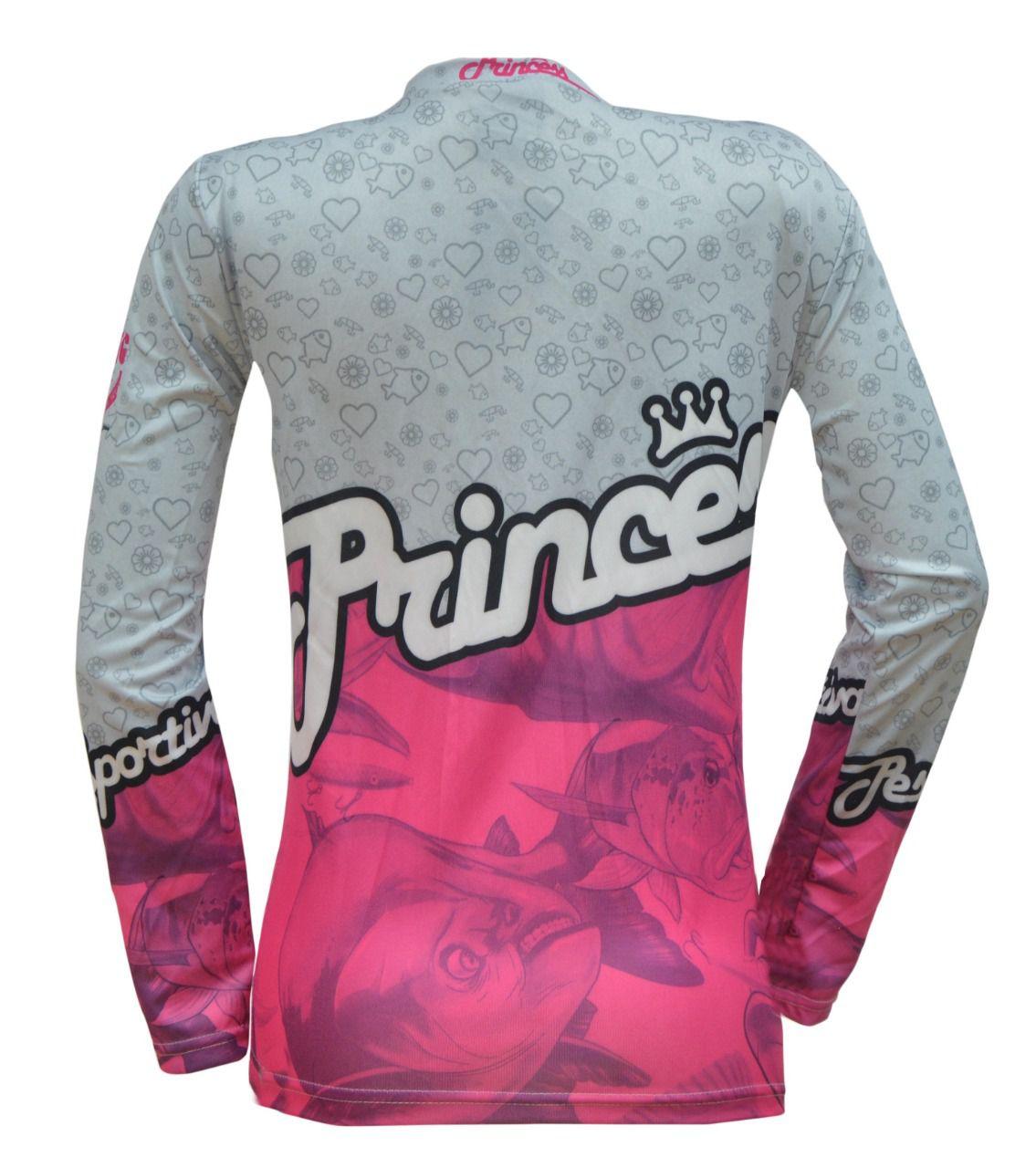 Camiseta De Pesca Feminina King Proteção Solar Uv KFF72 - Princess  - Life Pesca - Sua loja de Pesca, Camping e Lazer