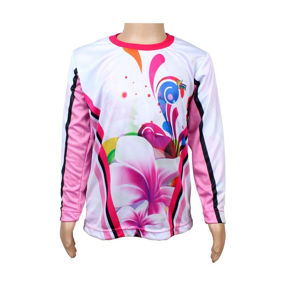 Camiseta de Pesca Infantil Proteção Solar 50+ UV Life Pesca - Flor
