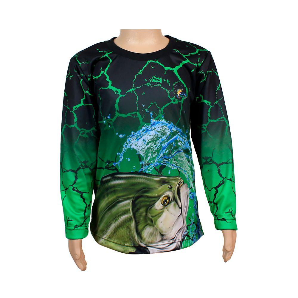 Camiseta de Pesca Infantil Proteção Solar 50+ UV Life Pesca - Tamba