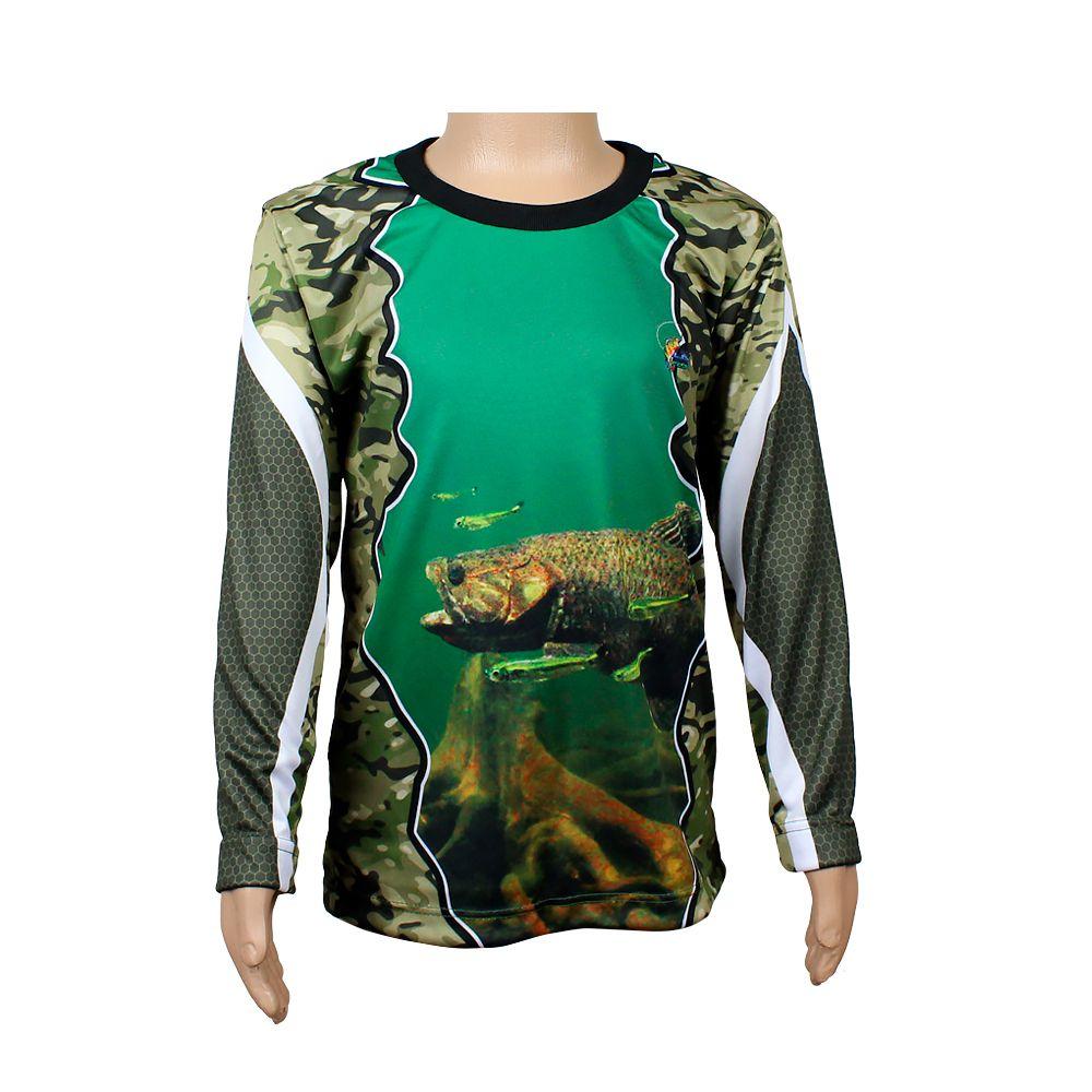 Camiseta de Pesca Infantil Proteção Solar 50+ UV Life Pesca - Traíra