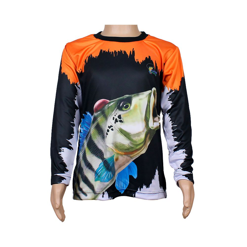 Camiseta de Pesca Infantil Proteção Solar 50+ UV Life Pesca - Tucuna