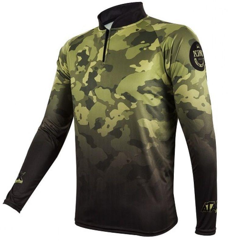 Camiseta De Pesca King Proteção Solar Uv Atack 01 - Camuflada  - Life Pesca - Sua loja de Pesca, Camping e Lazer