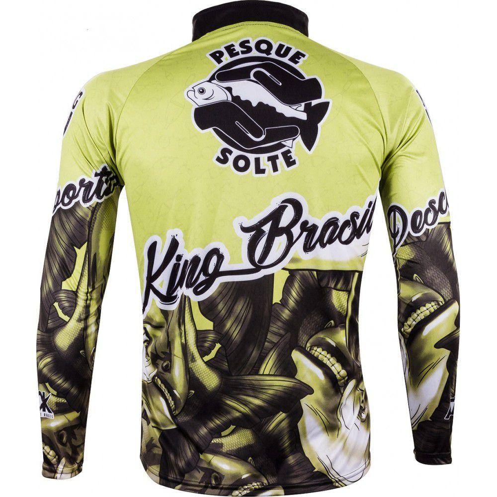 Camiseta De Pesca King Proteção Solar Uv Atack 03 - Tamba  - Life Pesca - Sua loja de Pesca, Camping e Lazer