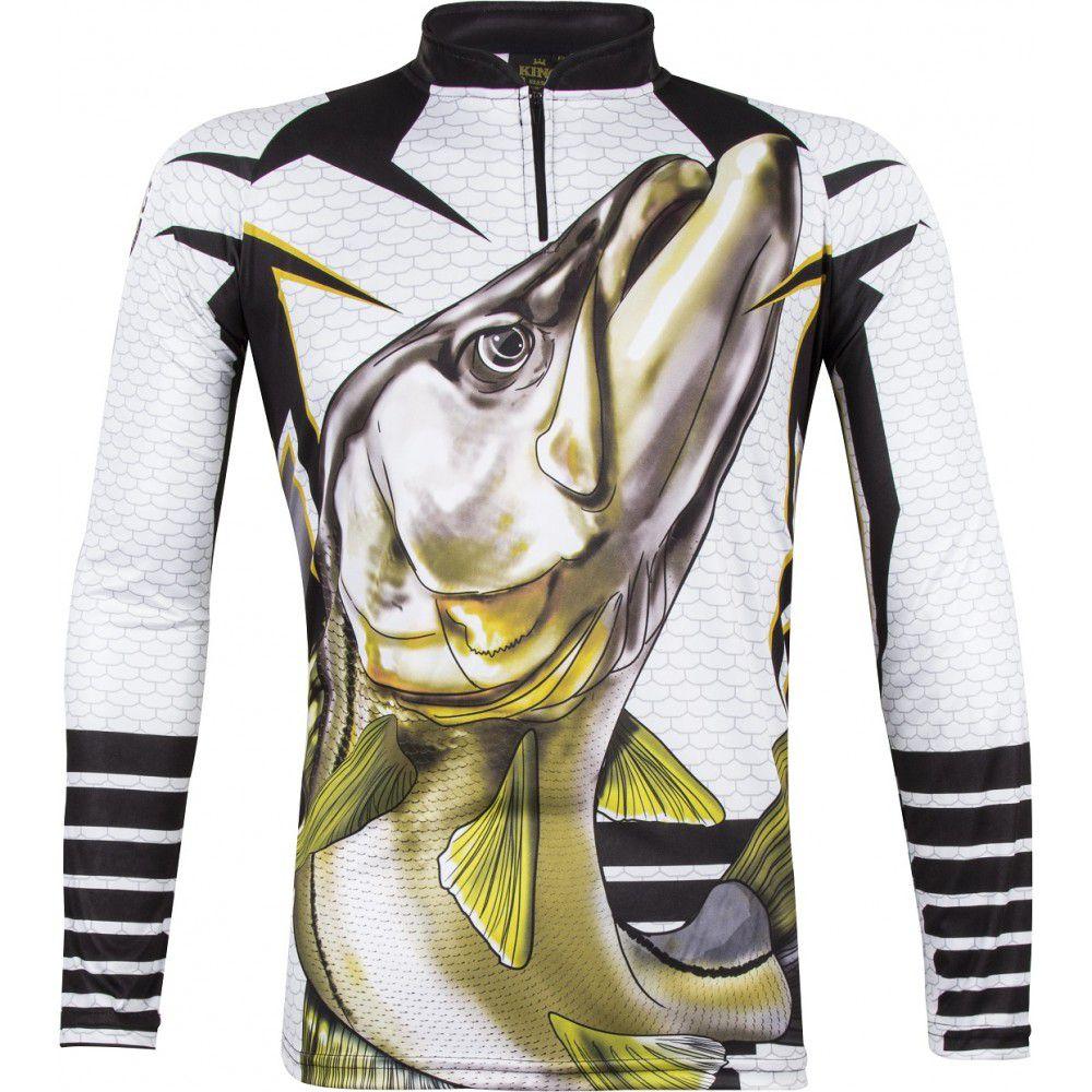 Camiseta De Pesca King Proteção Solar Uv Atack 04 - Robalo