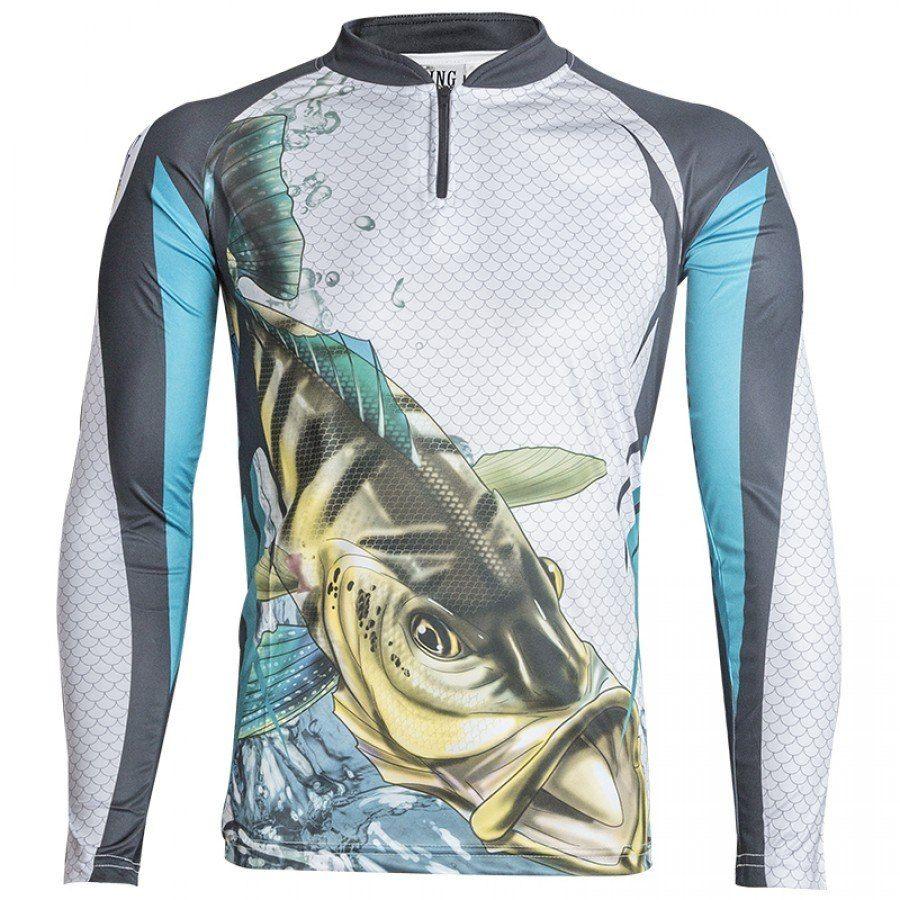 Camiseta De Pesca King Proteção Solar Uv KFF19 - Tucunaré