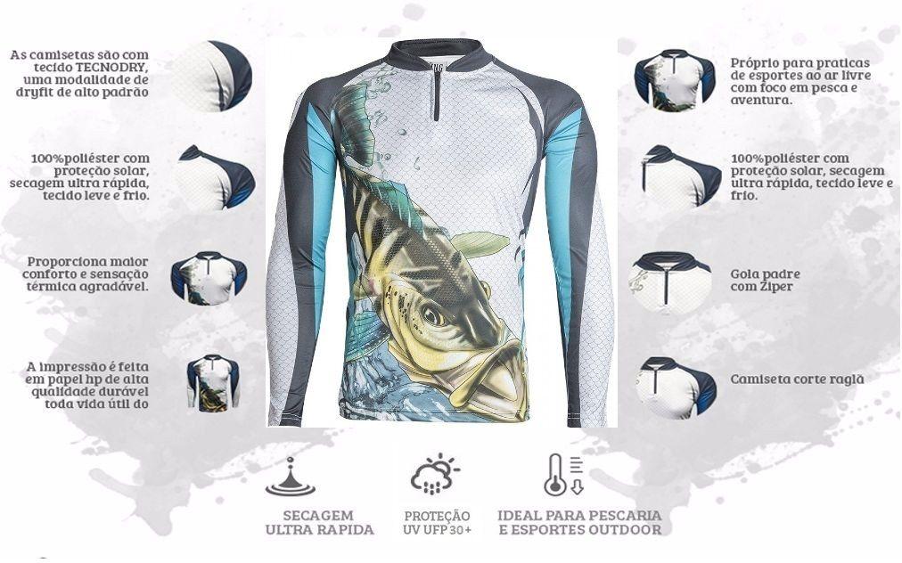 Camiseta De Pesca King Proteção Solar Uv KFF19 - Tucunaré  - Life Pesca - Sua loja de Pesca, Camping e Lazer