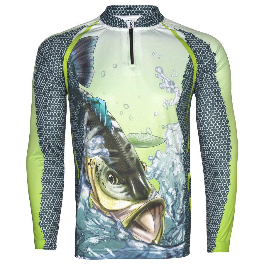 Camiseta De Pesca King Proteção Solar Uv KFF22 - Tucunaré