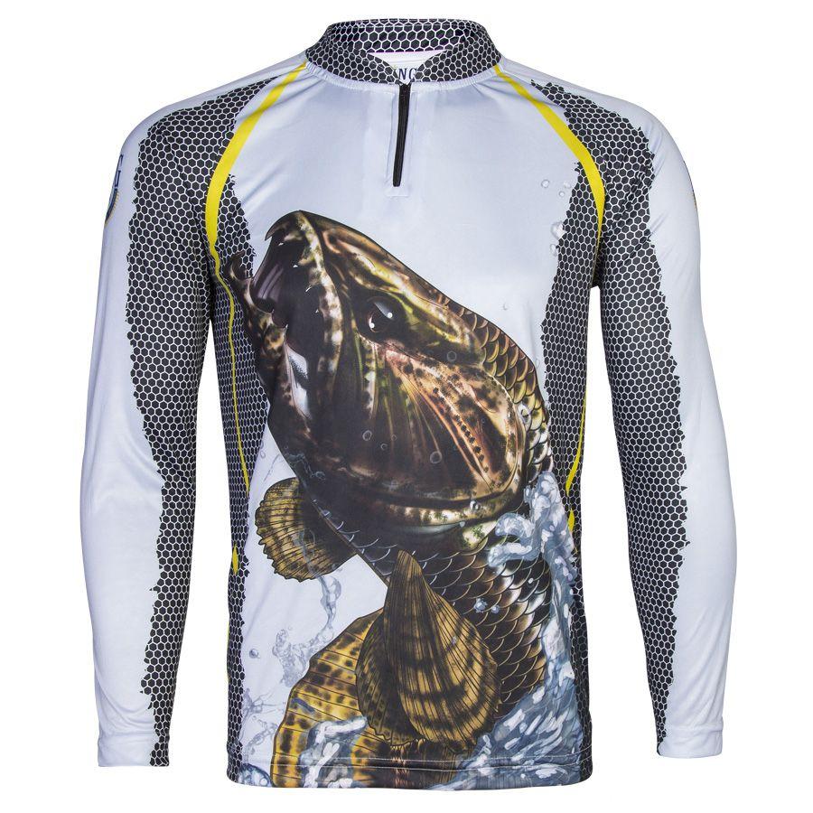 Camiseta De Pesca King Proteção Solar Uv KFF23 - Trairão