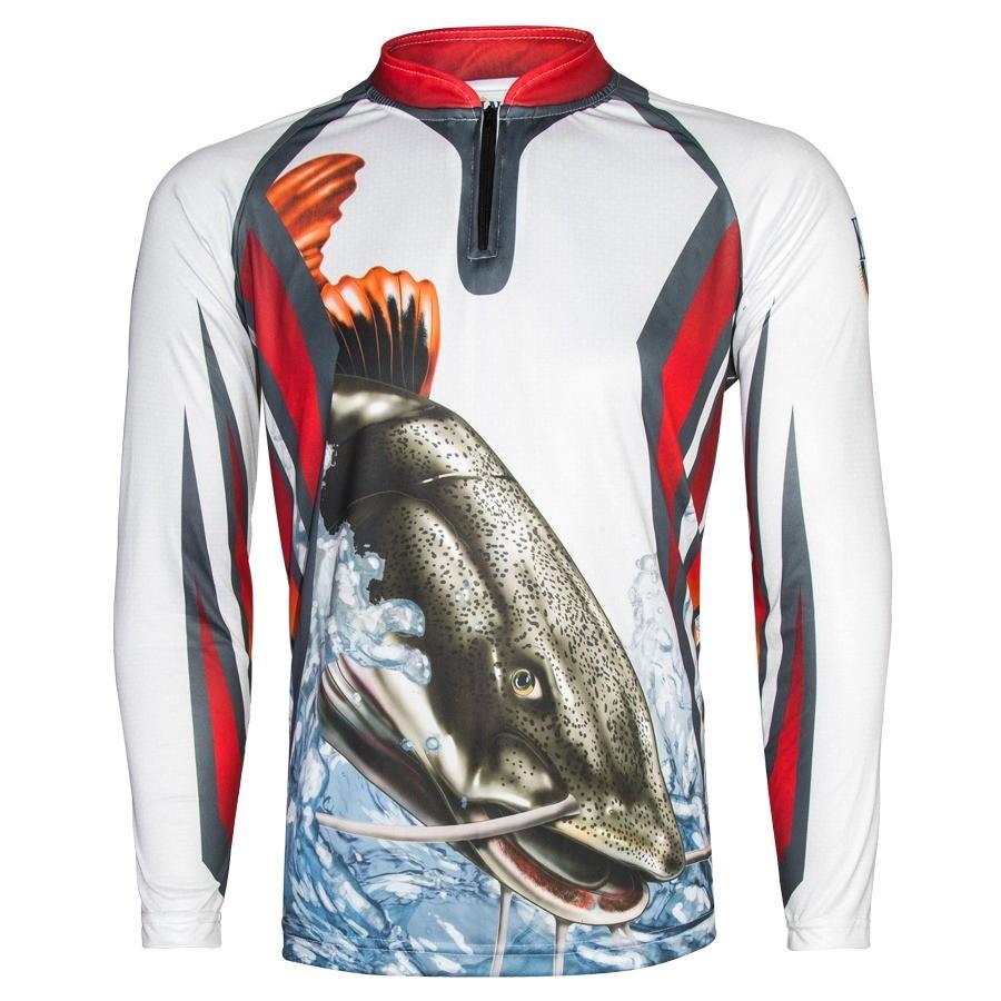 Camiseta De Pesca King Proteção Solar Uv KFF27 - Pirarara