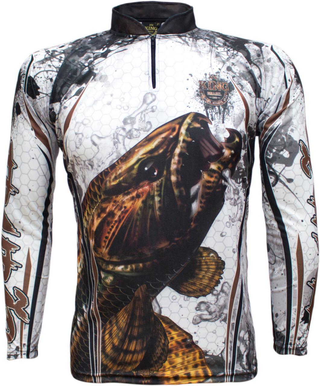 Camiseta De Pesca King Proteção Solar Uv KFF300 - Traíra