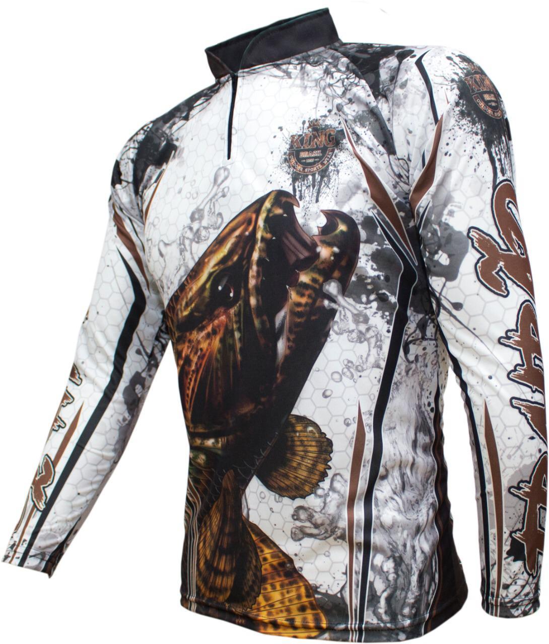 Camiseta De Pesca King Proteção Solar Uv KFF300 - Traíra  - Life Pesca - Sua loja de Pesca, Camping e Lazer