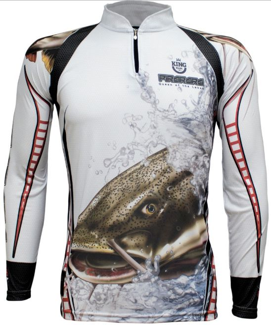 Camiseta De Pesca King Proteção Solar Uv KFF303 - Pirarara