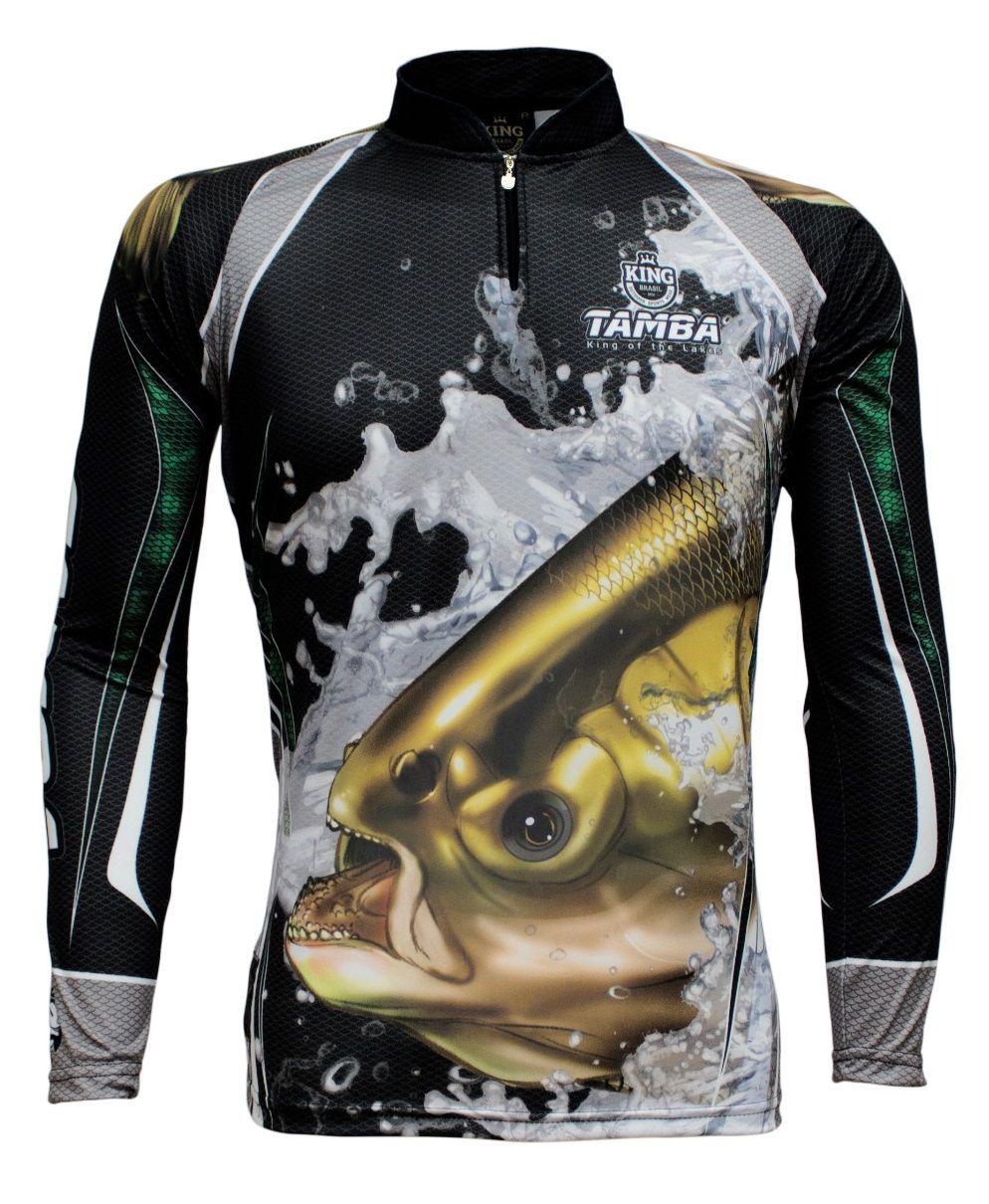 Camiseta De Pesca King Proteção Solar Uv KFF304 - Tamba