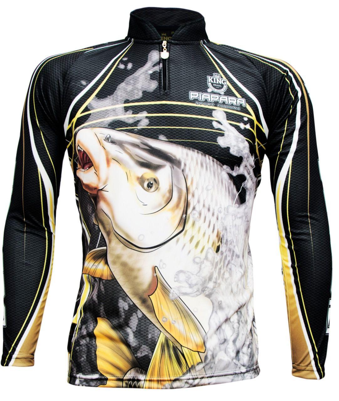Camiseta De Pesca King Proteção Solar Uv KFF305 - Piapara